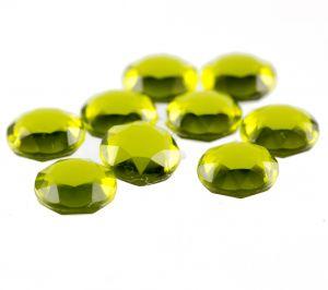 8,2mm Doppelchaton rund in gelbgrün