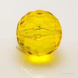 10mm Feuerballperle in sonnengelb