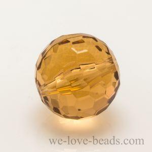 12mm Feuerballperle in Korall-Gold