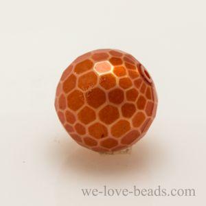 12mm Feuerballperle in weiss