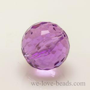 14mm Feuerballperle in violett