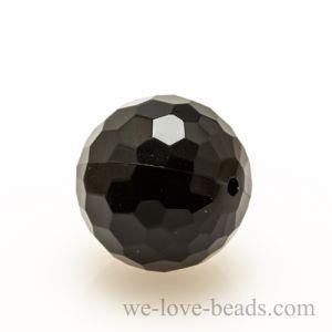 14mm Feuerballperle in schwarz
