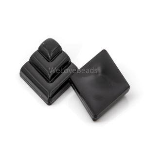 26x16 rauten Cabochon in schwarz