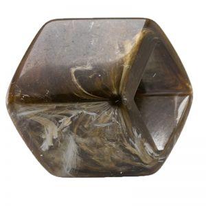 45x36 geometrischer Schaal halter in Olivbraun