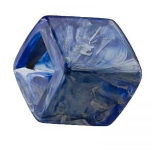 45x36 geometrischer Schaal halter in royal blau mit silber