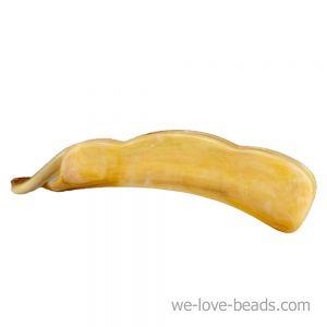 10cm Bananenspange klein in bernstein