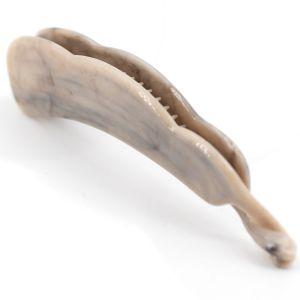 10cm Bananenspange klein in taubengrau