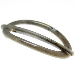 7x3 cm Libellenspange oval in militär grau