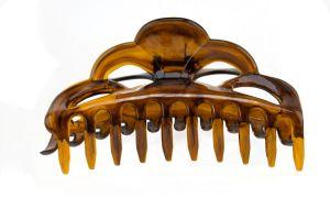 14,5x6cm Haarklammer Groß offenes ornament in havanna