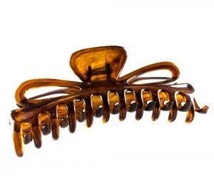 14,5x5cm Große Haarklammer schleife in havanna