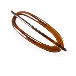 6x2cm Libellenspange oval in havanna