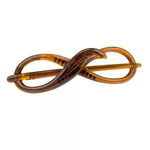 8x2,5cm Libellenspange 8er Form in havanna