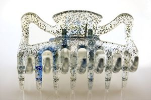 6cm Haarkralle in aqua transparent