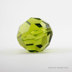 8mm Facettenperle in schlammgrün