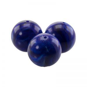 25mm Rundperle in königsblau