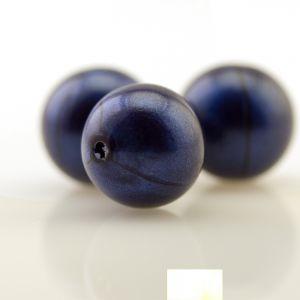 6mm Rundperle in kobaltblau