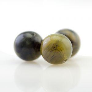 6 mm klassische Rundperle in schilfgrün