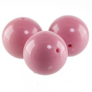 25mm Rundperle in rosa