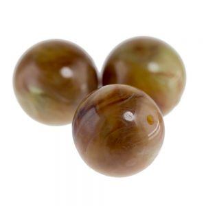 8mm Rundperle in olivebraun