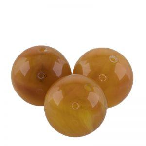 12mm Rundperle in bernstein orange