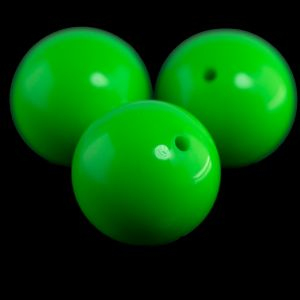 20mm Rundperle in neon grün