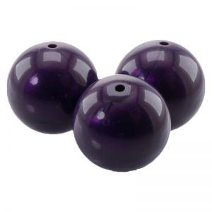 25mm Rundperle in lila seide