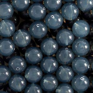 8mm Rundperle in grau dunkel