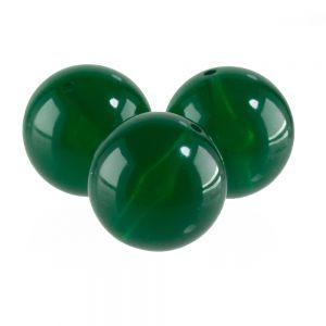 14mm Rundperle in  Jade grün