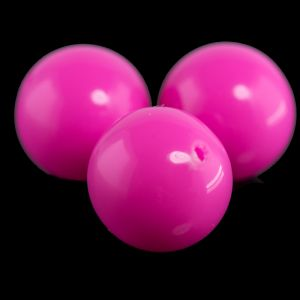16mm Rundperle in leuchtendes pink