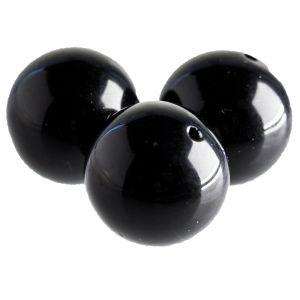 4mm Rundperle in schwarz