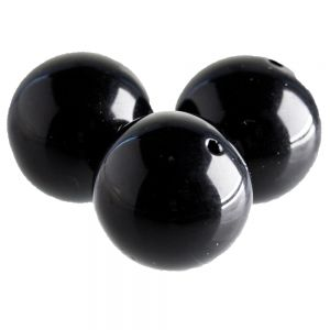 40mm Rundperle in schwarz