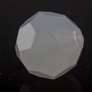 8mm Facettenperle in weiß