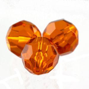 22mm Facettenperle in orangerot