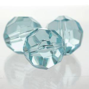 6mm Facettenperle in Aqua
