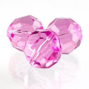 8mm Facettenperle in pink