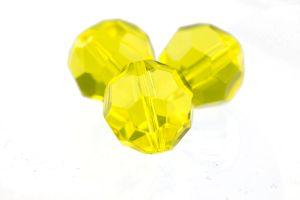 10mm Facettenperle in gelb