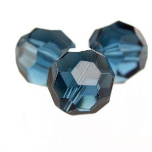 20mm Facettenperle in gunmetal grau