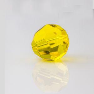 22mm Facettenperle in gelb
