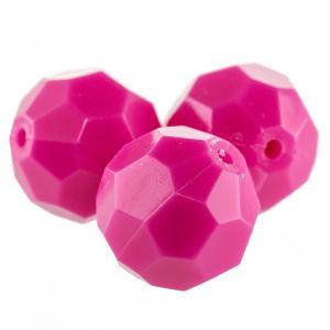 4mm Facettenperle in azalee pink