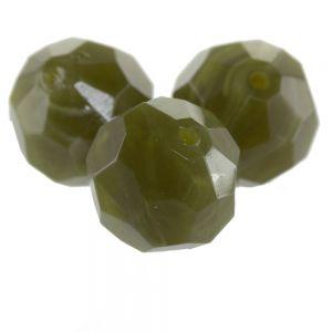 8mm Facettenperle in khaki-oliv
