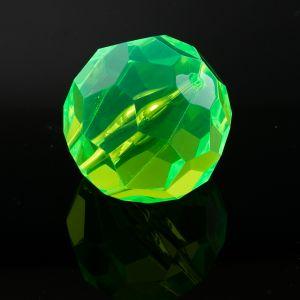 32mm Facettenperle in neon grün