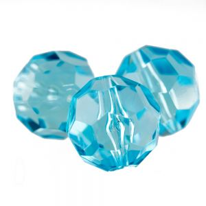 20mm Facettenperle in safirblau