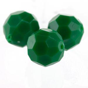 10mm Facettenperle in golfrasen grün