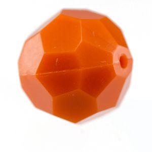12mm Facettenperle in korallen orange
