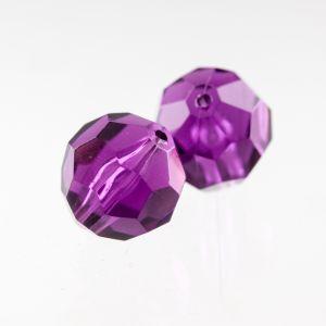 14mm Facettenperle in violett dunkel