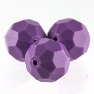 10mm Facettenperle in lila