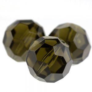 24mm Facettenperle in dunkeles olivegrün