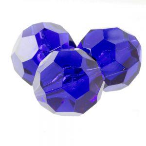 24mm Facettenperle in prismen violett