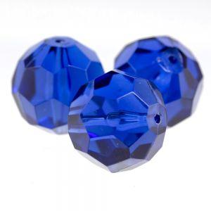 24mm Facettenperle in enzianblau