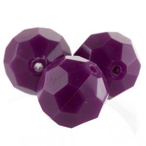 12mm Facettenperle in pflaumen lila